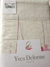 YVES DELORME RIVAGES FLAMANT FLORAL KING SUPERKING FLAT SHEET
