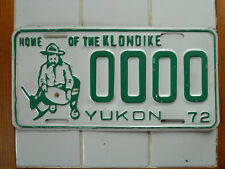 1972 Yukon GOLD NUGGET SAMPLE License plate #0000