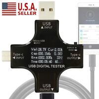 USB Type-C PD Tester Digital Voltmeter Ammeter Voltage Current Meter Detector US