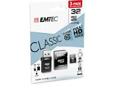 Micro SDHC 32GB Memory Card 3in1 SD With USB Adapter Class 10 SDXC Blister Pack