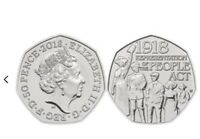 2018 50p 100th Year Anniversary Representation Of People Act