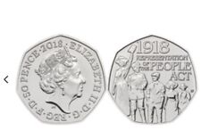 2018 BUNC 100th Anniversary of Representation of the People Act 50p Coin