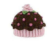 San Diego Hat BROWN CUPCAKE Bonnet Beanie 0-6 Months Baby Girl Cute Shower gift