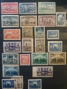 1946 Poland Stamps Collection Mint Condition Look