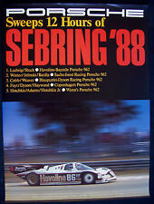 PORSCHE 962 12 HOURS OF SEBRING SHOWROOM VICTORY POSTER 1988 USA