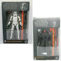 Star Wars The Black Series DARTH MAUL #02 STORMTROOPER #09 Action Figures Hasbro