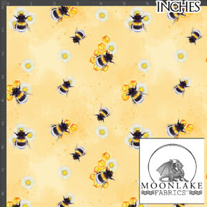 Summer Bee 100% Quality Cotton Poplin Fabric * Exclusive *