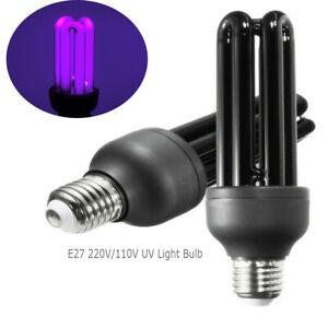 40W E27 220V Blacklight Low Energy 395nm UV Light Bulb Screw Ultraviolet Lamp