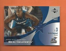 2002-03 UD ALL-STAR AUTHENTICS BRENDAN HAYWOOD GAME-USED SHORTS #BH-AS WIZARDS
