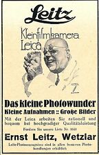 1930 Leica Wetzlar Photo-Wunder Hohlwein 7x10 cm original Printwerbung