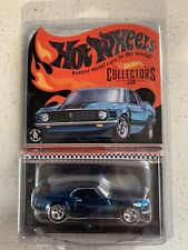 Hot Wheels RLC 2017 1970 Ford Mustang Boss 302 Spectraflame Blue Color w/ RR