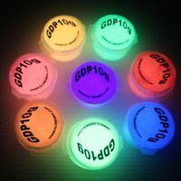 GLOW IN THE DARK Visible Pigment Powder Neon UV Fluorescent strontium aluminate