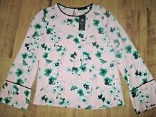 BNWT Ladies MARKS & SPENCER Long Sleeve Pink Mix Top Size  12