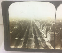 Avenue of the Grande Armee from the Arch of Triumph Paris, France Stereoview
