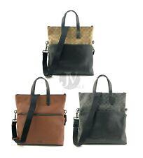 Совершенно новая мужская Coach (F50712 F72528) Graham FOLDOVER Гладкая кожаная сумка с короткими ручками сумочка