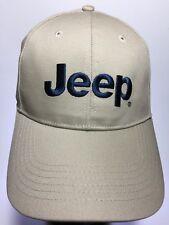 Jeep Baseball Hat Cap A3 Headwear Adjustable Closure Ivory Cream Khaki Cap