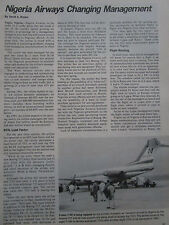 10/1981 ARTICLE 3 PAGES NIGERIA AIRWAYS FOKKER F28 WEST AFRICA AFRIQUE