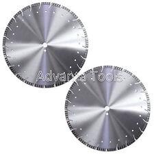"2PK 20"" Diamond Saw Blade for Asphalt Concrete Brick Block Pavers Stone - 12MM"