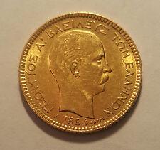 GREECE / 1884A 20 Gold Drachmai King George I !!