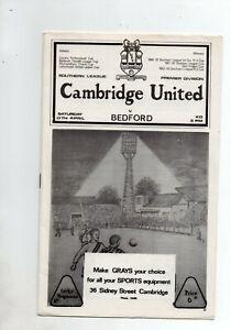 CAMBRIDGE UNITED v BEDFORD TOWN 1964/5