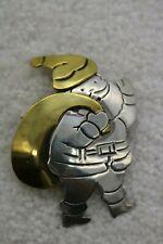 Vintage Laton Sterling Silver Christmas Santa Claus 925 Brooch Pin
