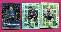 CHRIS DRURY + PAUL KARIYA  + ALEX FROLOV RC NHL INSERT CARD   (INV# C4117)