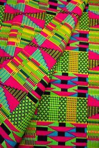 Metallic Gold Kente African Fabric by the Yard Cotton Ankara Mask Quilt Craft