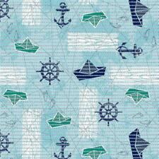 Nautical Non-Slip Shower Aqua Mat