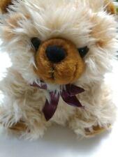 "Cute Fluffy Teddy Bear Mei Da Toys Inc 9"" Plush Stuffed Animal Light Brown"