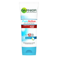 100ml Garnier Pure Active Facial Foam Anti-Acne White Acne & Oil Skin Clearing