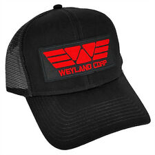 ALIEN Movie PROMETHEUS Weyland Corp RED Sci fi Patch Black Trucker Mesh Cap Hat
