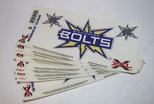 "Lot of (10) Original Wincraft XFL Birmingham Bolts Logo 6"" x 3"" Window Clings"