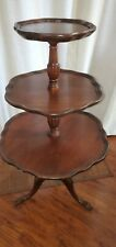 New listing Antique Mahogany 3-teir table/ Dumbwaiter table By Mersman