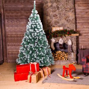 7FT Spray White PVC Christmas Tree 870 Branches Xmas Pine Tree Christmas Day