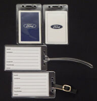 Set of (2) Luggage tags w/ Ford playing card
