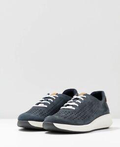 Clarks Womens Shoe Un Rio Tie Navy Size 8 D Rrp £75
