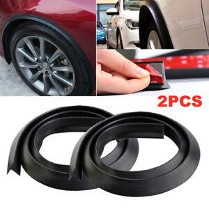 2PCS Car Wheel Fender Extension Moulding Flares Trim Strip Stick 1.5m Accessory