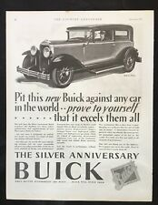 1928 Antique Automobile Magazine Ad ~ Buick Body by Fisher ~ Firestone