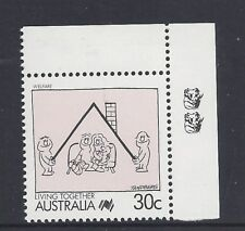 Reprint Stamps Living Together 30c Welfare 2K Top Right Corner no perf