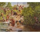 Don Troiani Ensign Downings Escape Battle of Wyoming July 3rd 1778