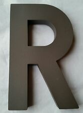 "Dark Brown Plastic Letter R - Any Letter,Size & Color 8"" x 4.75"""