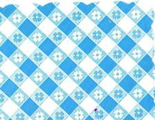48 Plastic Scalloped Placemats Dinner Size Place Mats Blue Gingham