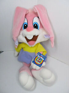 "Vintage 1990 Applause Tiny Toon Adventures Babs Bunny18"" Plush WB w/tags"