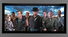 """Breaking Bad Cast, """"Heisenberg"""" Walter White, Justin Reed, 21 x 44 inch Poster !"""