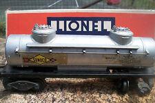 LIONEL O Scale SUNOCO TANK CAR #2465 Vintage METAL In Box HARD2FIND NICE