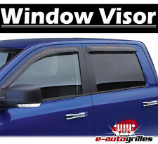 Window Visor Rain Sun Guard Vent Smoke 4pc for 04-06 Toyota Tundra Double Cab