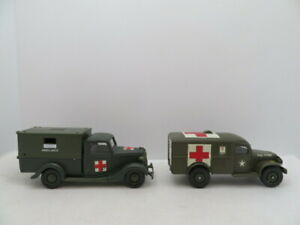 Solido WWII US Dodge WC-54 Ambulance and 1936 Ford V8 Die Cast
