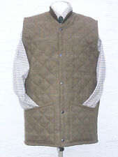QUILTED TWEED  VEST WOOL  POPPED  FRONT SHOOTING HUNTING COUNTRYWEAR SIZE LARGE