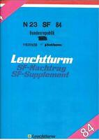 Leuchtturm SF Vordrucke BRD 1984 mit Klarsichttaschen - unbenutzt