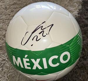 "Hirving ""Chucky"" Lozano Signed Mexico Soccer Ball With Exact Proof"